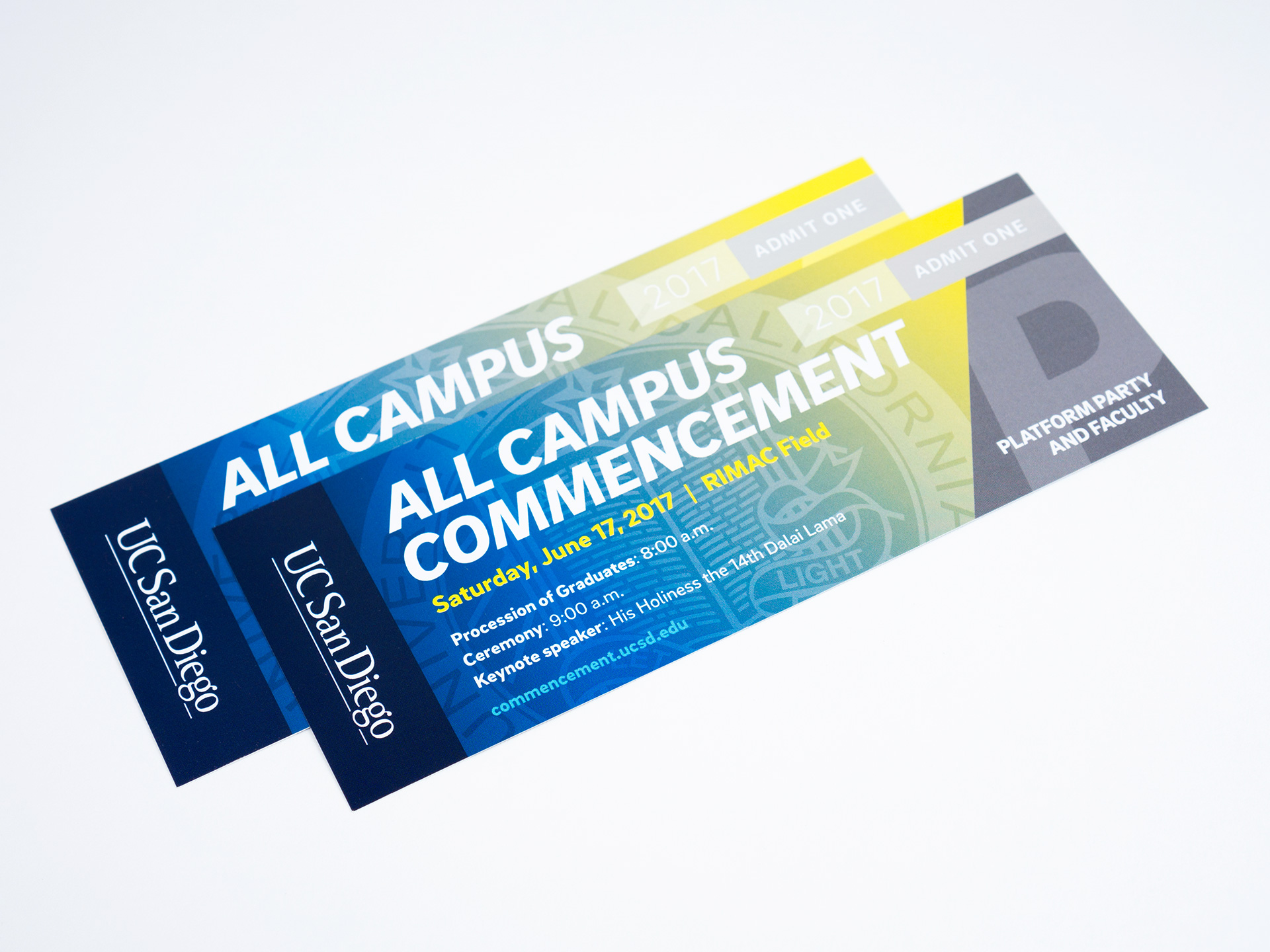 UC San Diego - 2017 Commencement Weekend Event Tickets