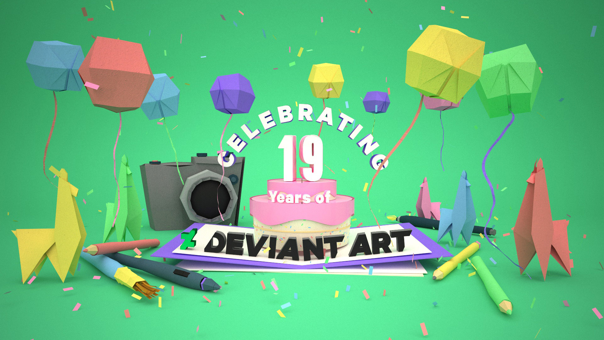 DeviantArt 19th Birthday Key Art