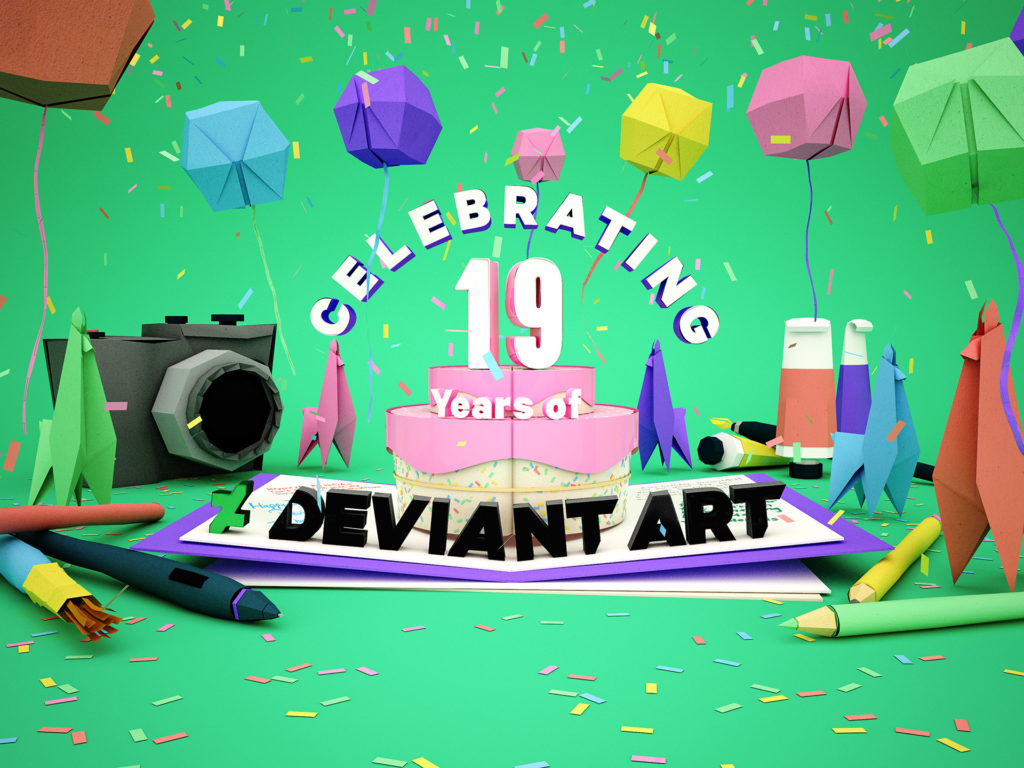 DeviantArt 19th Birthday - Key Art