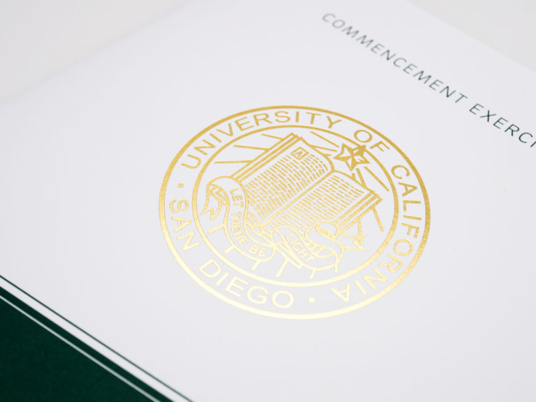 UC San Diego Commencement Program - Muir College: Front Cover