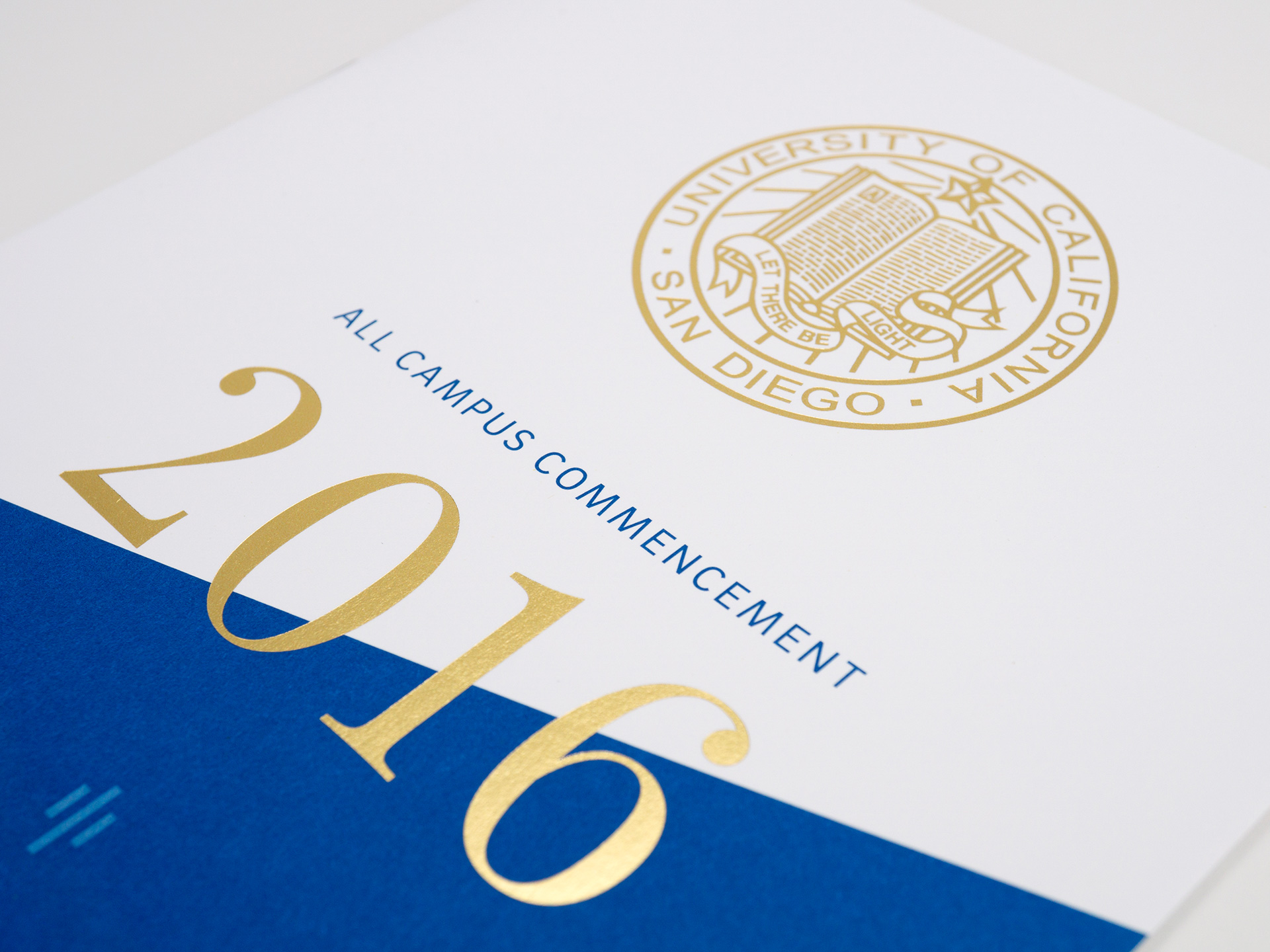 UC San Diego, All Campus Commencement Program