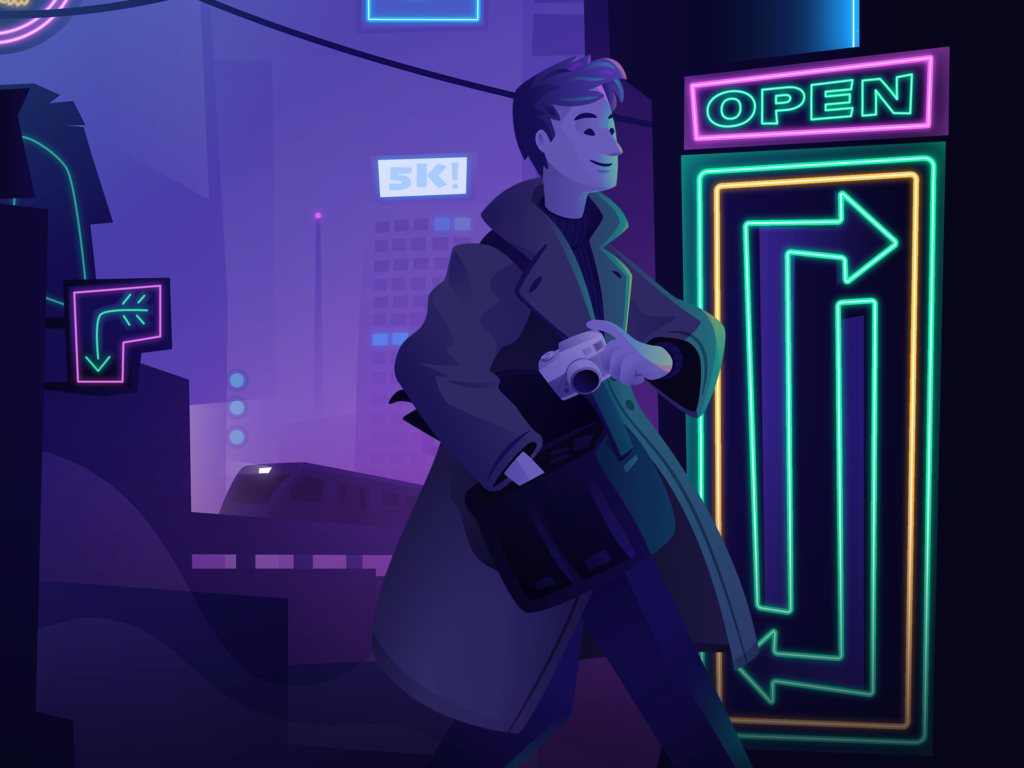 Devious Desktops: Neon Nights - Key Art (Close up)