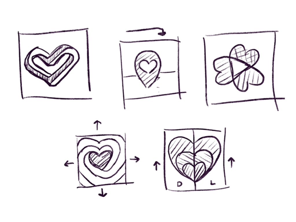 DeviantArt Start With Love - Badge Concepts